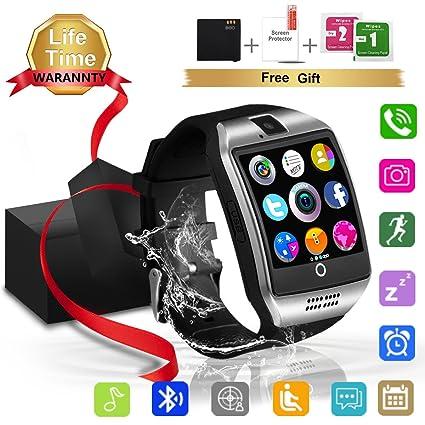 Montre Connectée, Bluetooth smartwatch Etanche avec SIM/TF Carte Caméra Ecran Tactile Sport Pédomètre