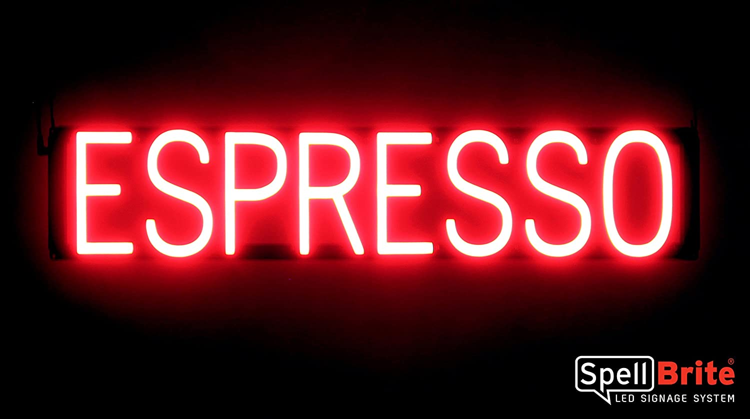 Neon Look, LED Performance SpellBrite Ultra-Bright Espresso Sign Neon-LED Sign