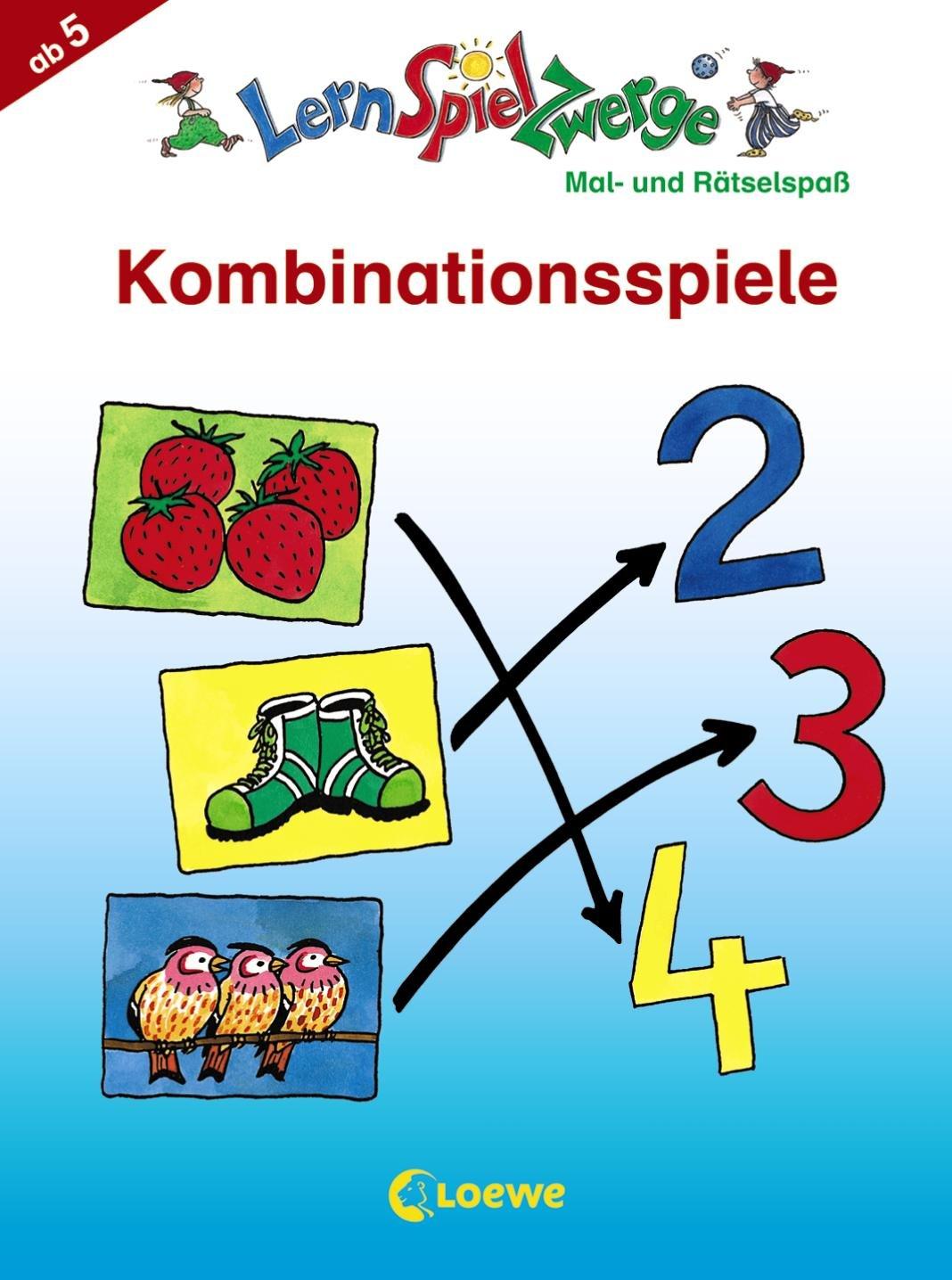 Kombinationsspiele: Mal- und Rätselspaß (LernSpielZwerge - Mal- und Rätselblocks)