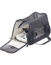 Sweetypet Hundetasche: Hand- & Auto-Transporttasche für Haustiere bis 8 kg, Größe L, schwarz (Katzentragetasche)