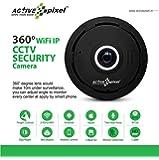 Active Pixel Wireless Wifi 1.3Mp Camera 360 Degree Fisheye HD View With IR Night Motion Detection (Black)