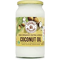 Coconut Merchant Organic Raw Extra Virgin Coconut Oil 1 Litre (Pack of 4)