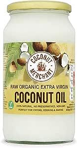 Coconut Merchant Organic Raw Extra Virgin Coconut Oil 1 Litre (Pack of 4)