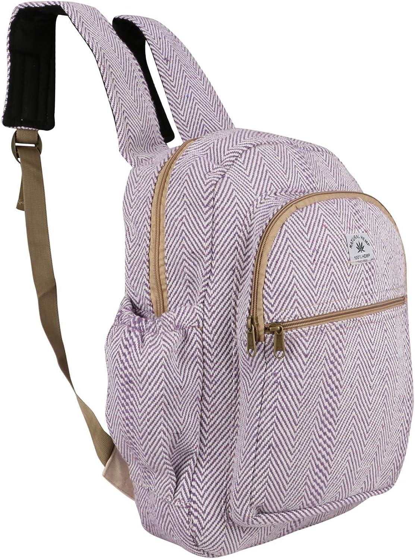 Suman Enterprisesのヒマラヤ麻のラップトップバッグバックパック/旅行バッグ、素晴らしい製品(パープル)