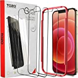 TOZO Compatible for iPhone 12 and Compatible for iPhone 12 Pro Screen Protector 3 Pack Premium Tempered Glass 0.26mm 9H Hardn
