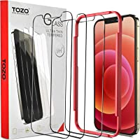 TOZO Compatible for iPhone 12 and Compatible for iPhone 12 Pro Screen Protector 3 Pack Premium Tempered Glass 0.26mm 9H…