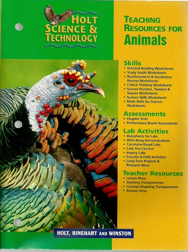 Holt Science & Technology (Teaching Resources for Animals): Holt ...
