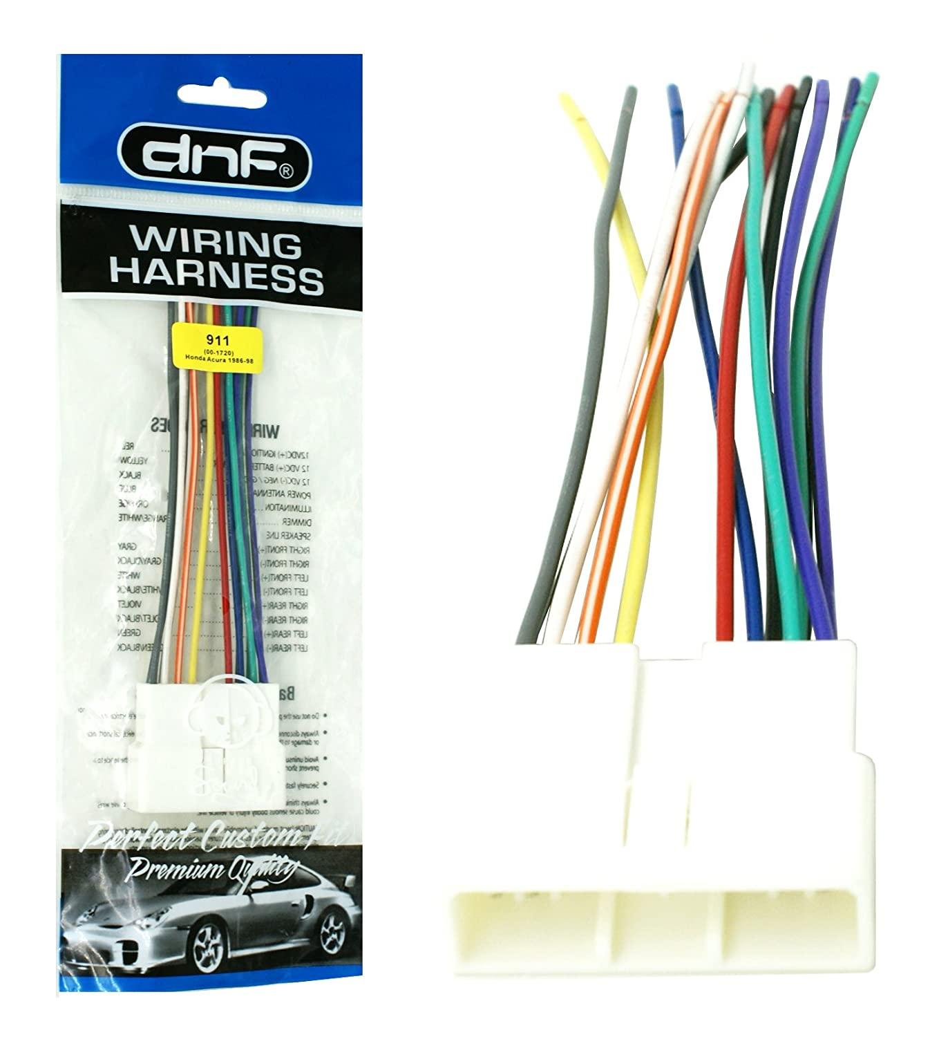 Amazon.com: DNF Aftermarket Wire Harness Stereo + Radio ... on