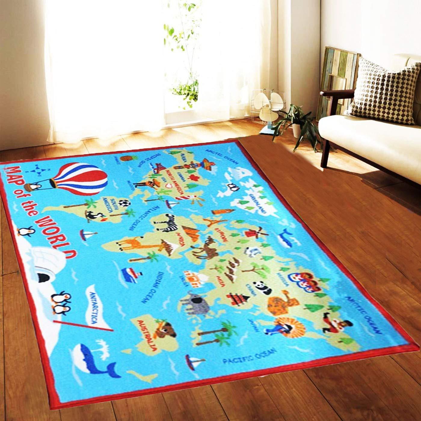 Rocket Mat Rug Carpet Nursery Bedroom Play Room Pirate Children Kids Boy
