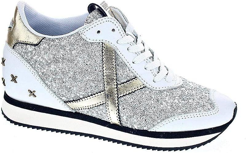 Munich Heaven 34 - Zapatillas Bota Mujer Blanco Talla 40: Amazon ...
