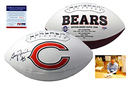 c745cb7d1d3 Image Unavailable. Image not available for. Color: Gary Fencik Signed  Chicago Bears Logo Football - PSA/DNA