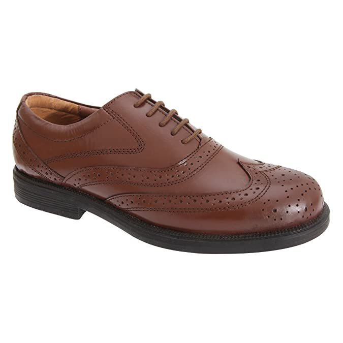Scimitar Herren Wing Cap Brogue Oxford Schuhe (45,5 EU) (Braun)