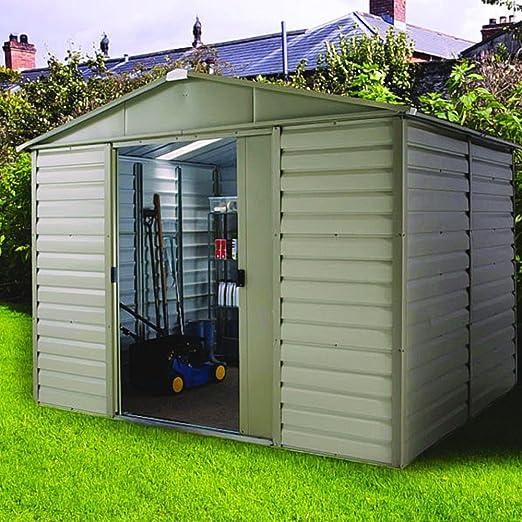 Yardmaster Metal de Tirol 1012sl Cobertizo caseta jardín casa 10, 5 m² Aprox: Amazon.es: Jardín