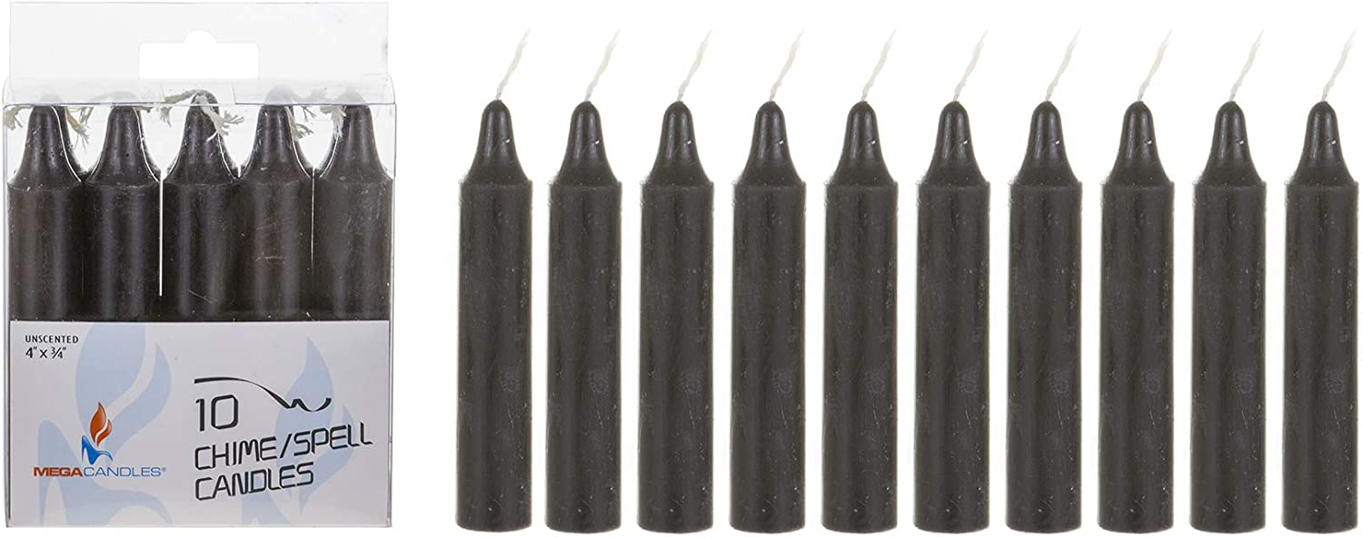 Mega Candles 10 pcs Unscented Assorted Mini Taper Candle Spells 4 Inch Tall x 3//4 Inch Diameter Vigil Rituals Wiccan Supplies Great for Casting Chimes Witchcraft Wax Play /& More