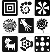Black White Flash Cards for Infants, 48 Pictures 5.5 x 5.5 Inch Designed Contrast Cards for Newborn Baby Toys with High…