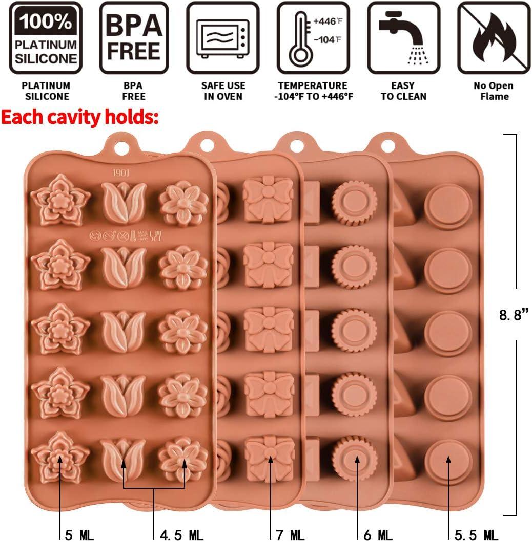 eBook Gratuit gel/ée Bonbon Caramel Mini p/âtisserie Maison B-SOLEK Moules Silicone aux Formes Vari/ées Mini g/âteau Lot de 10 Moules en Silicone pour Fabrication de Chocolat de PAQUES