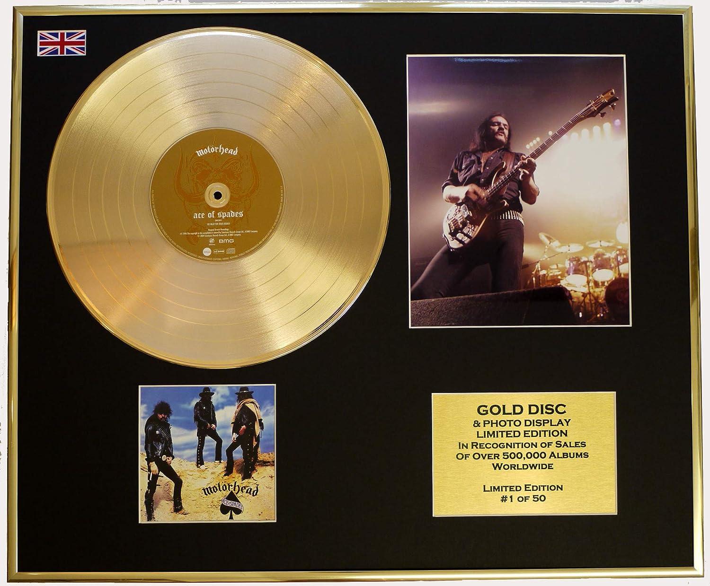 MOTORHEAD Goldene Schallplatte RECORD & Foto-Darstellung Limitierte Edition COA COA COA ACE OF SPADES d1fa32
