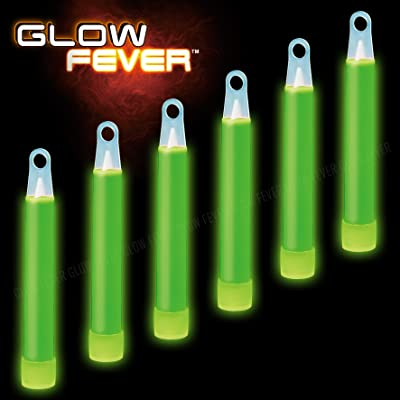 """Glow Fever Bulk 100ct 4"""" Glow in The Dark Sticks, for Kids Party Supplies Birthday Party Favors Game Prizes or Treats, Green: Toys & Games"""