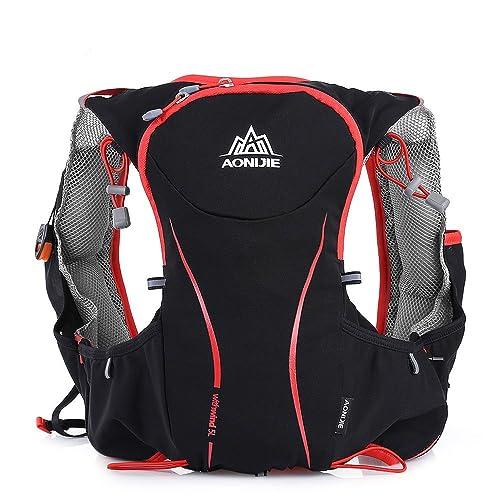 3eb532bc50c OutLife AONIJIE Mochila Hidratacion Trail Running de Nylon Impermeable  Compatible para Bolsa de Agua de Hidratación de 1,5 L para Maratón,  Ciclismo, Carrera
