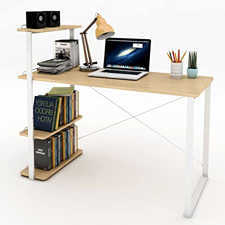 casa ufficio//studio scrittoio tavolo da scrivania per computer stazione di lavoro libreria scaffale tavolo computer desktop portaoggetti a ripiani PC