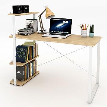 Amazon.com: Lifewit Computer Desk PC Laptop Desk with Bookshelf ...