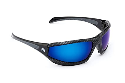 7aace47a31f MORR Protective Gear MORR MARRCONI Z75 Sport Sunglasses with Blue Mirror  Polarized Lenses and Foam Padded Frame for Fishing