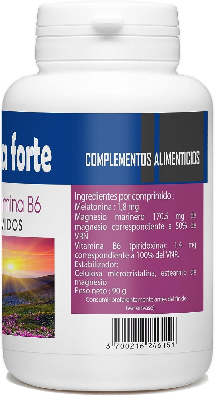 Melatonina Forte 1.8mg - Magnesio y Vitamina B6-180 comprimidos ...