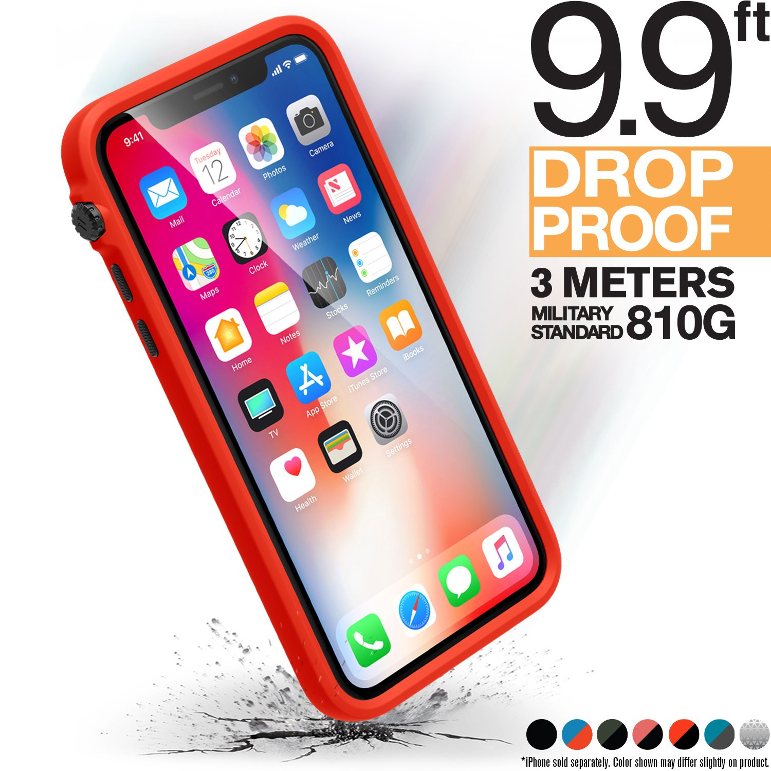 Catalyst iPhone Xs Case Impact Protection Compatible iPhone X, Military Grade Drop and Shock Proof Premium Material Quality, Slim Design, Sunset by Catalyst
