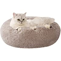 Love's cabin 20in Cat Beds for Indoor Cats - Heated Cat Bed with Machine Washable, Waterproof Bottom - Fluffy Dog and…