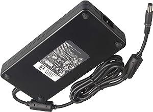 Original New 240W 19.5V 12.3A PA-9E AC DC Adapter Charger Cord for Dell Alienware M17X R2 M17X R3 M4700 M6400 M6500 M6600 J211H FWCRC C3MFM U896K 6RTJT Y044M Power Supply Slim