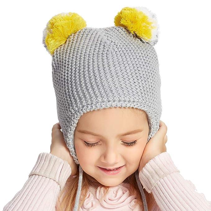 bcfc5c737 Amazon.com  SOMALER Toddler Beanie for Boys Girls Winter Ear Flap ...