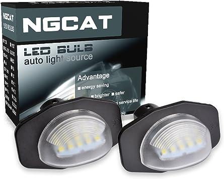 Pack of 2 NATGIC 18 LED 3528 SMD LEDs Bulb License Number Plate Light Lamps CanBus Error Free