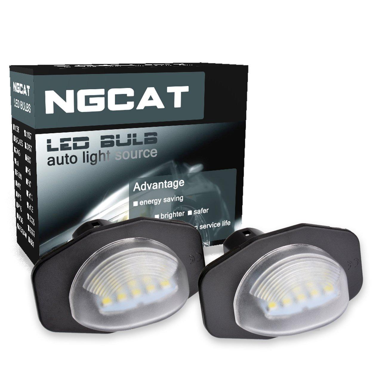 NGCAT 1 par de bombillas LED 18 SMD matrícula Luz de la placa del auto: Amazon.es: Coche y moto