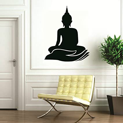 ed4d4ce0728 Buy SYGA Black God Buddha Decals Design Wall Stickers Online at Low Prices  in India - Amazon.in