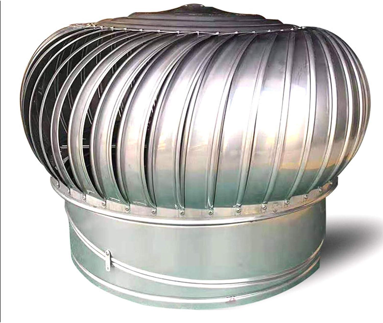 LTLWSH Sombrero Extractor de Humos Inoxidable Sombrero Extractor para Estufa Giratorio para Tubo, Caperuza De Salida de Humos Giratoria, Base Redonda,160mm