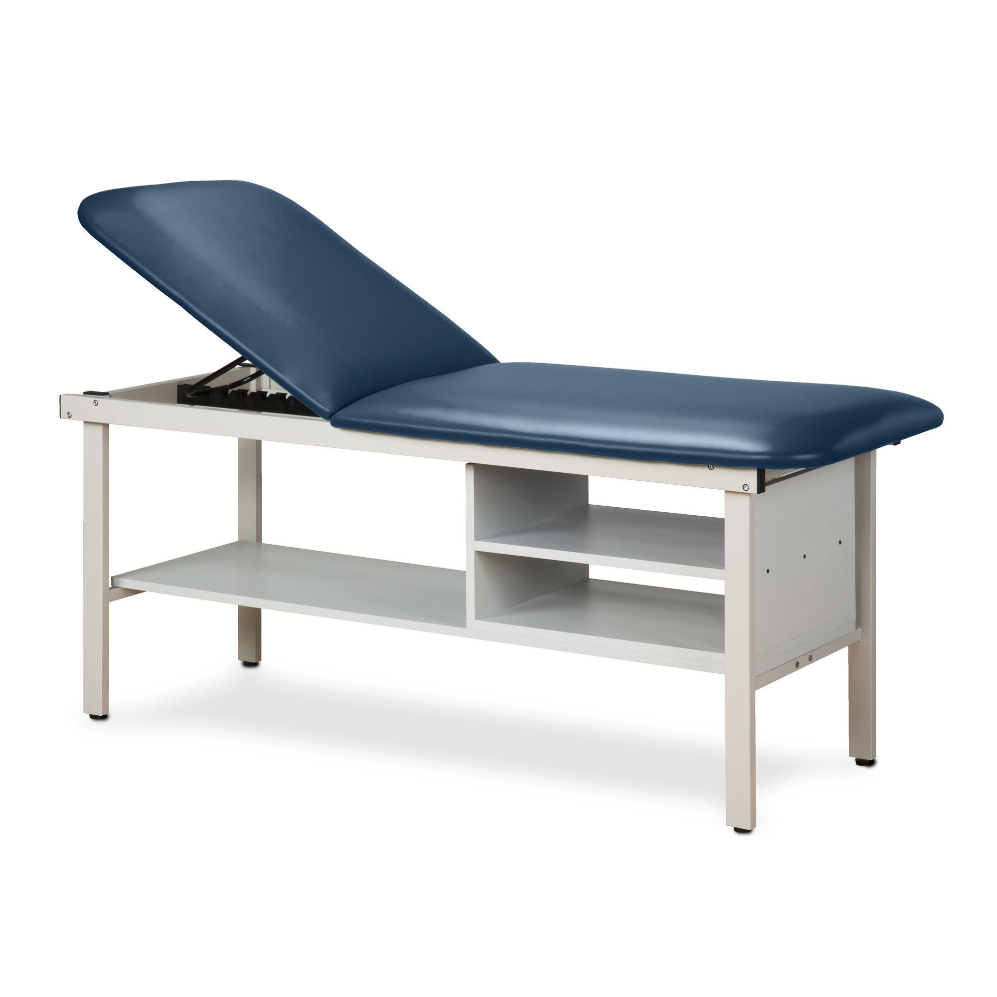 30'' Width Alpha Treatment Table with 2 shelves Royal Blue
