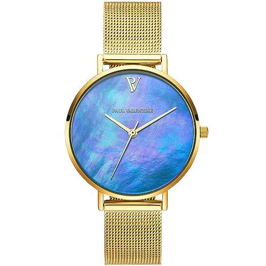 Paul Valentine PV321241 Blue Seashell - Reloj de Pulsera para Mujer, Color Azul: Amazon.es: Relojes
