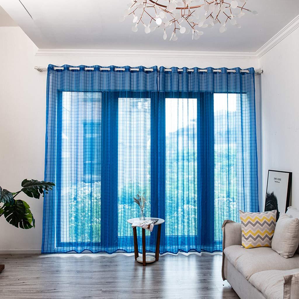 L x B YSFWL Vorh/äNge 1 er-Pack Transparente Gardinen Bl/ätter Durchsichtiger Vorhang T/üll Fensterbehandlung Voile Drapieren Volant Panel Stoff 250 cm x 150 cm Gold
