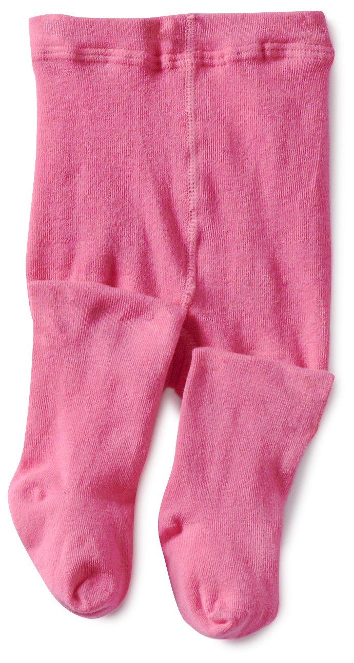 Jefferies Socks Baby Girls' Seamless Organic Cotton Tights, Bubblegum, 18 24 Months