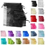 TtS 25/50/100pcs 7X9CM Organza Gift Bags Wedding Party Favour Jewellery Packing Pouches