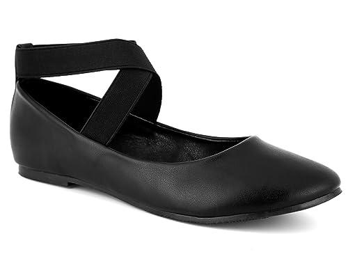 buy online 24c99 b1b73 MaxMuxun Damen Geschlossene Ballerinas Flache Rund Toe Caprice Schuhe