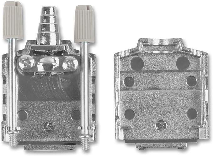 DE 90/° D Sub Backshell Nylon Pack of 20 Body, MHDPPK Series MHDPPK9-K Polyamide