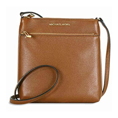 8b36f1bb826ba3 Image Unavailable. Image not available for. Colour: MICHAEL Michael Kors  Riley Small Flat Crossbody Luggage/Gold