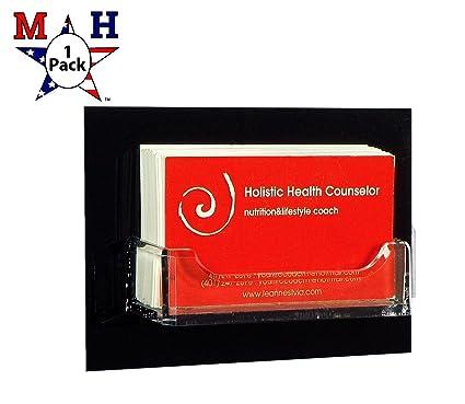 Amazon marketing holders single pocket wall mount business card marketing holders single pocket wall mount business card holder black back 1 colourmoves