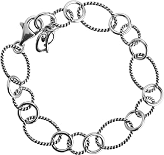product image for Carolyn Pollack Sterling Silver Oval and Round Link Bracelet Size Small