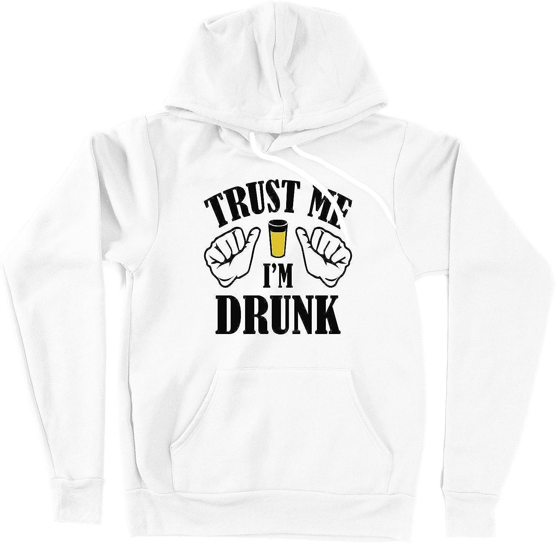 VectorPlanet Trust Me Im Drunk Unisex Hoodie White