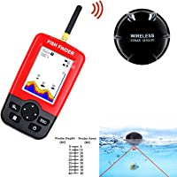 Taizhilong Fish Finder Portabel Rechargeable Wireless Fishfinder for Boat,Kayak Ice Fishing, Shore Fishing and Sea Fashing with Sonar Sensor Depth Locator