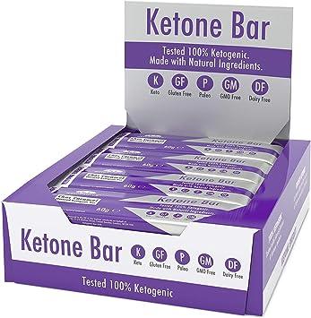 Barra De Cetonas (Caja De 12 Barras) | Snack Bar Ketogénico | Contiene C8 MCT Aceite Puro | Paleo & Keto | Sin Gluten | Sabor Caramelo De Chocolate | ...