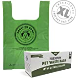 Biodegradable Dog Poop Bags | Compostable Dog Waste Bags, Unscented, Vegetable-Based & Eco-Friendly, Premium Thickness…
