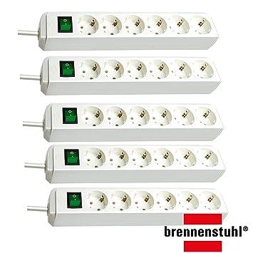 Brennenstuhl Eco-Line Steckdosenleiste mit Schalter 6-fach 3m